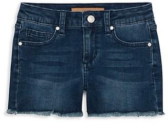 Joe's Jeans Girl's Mid-Rise Frayed-Hem Denim Shorts