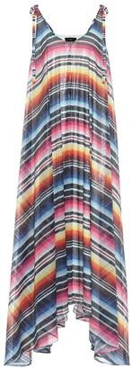 Alanui Sarape sequined striped maxi dress