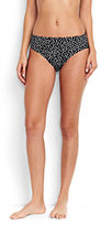 Lands' End Women's Mid Waist Bikini Bottoms-Deep Sea Italian Floral