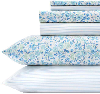 Laura Ashley Stripe 6Pc Sheet Set