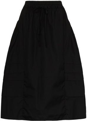 Cecilie Bahnsen Mandy tiered cotton midi skirt