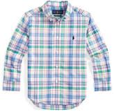 Ralph Lauren Childrenswear Boy's Stretch Poplin Plaid Button-Down Shirt, Size 2-4