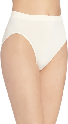 Bali Women's Comfort Revolution Seamless High-Cut Brief Panty - beige - 8/9