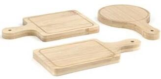 Kikkerland Design - Set of 6 Bamboo Mini Serving Trays