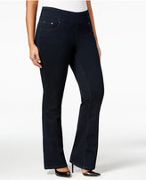 Jag Petite Plus Size Paley Pull-On Bootcut Jeans