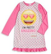 AME Sleepwear Little Girl's and Girl's Emoji Sleepshirt