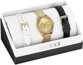 GUESS GUESS? Women's U0201L3 Leather Quartz Watch with Dial