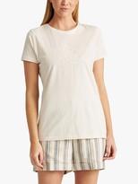 Ralph Lauren Ralph Katlin Short Sleeve Cotton Top, Mascarpone Cream