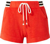 Splendid + Margherita Sportivo Striped Cotton And Modal-blend Terry Shorts - Red
