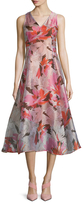 LK Bennett Prula Floral Print Even Flared Dress