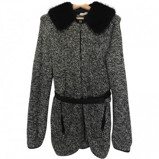 Moncler Grey Wool Coat for Women