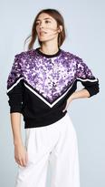 MSGM Sequin Chevron Sweatshirt