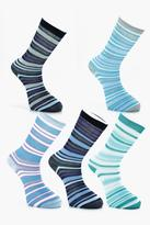 boohoo 5 Pack Stripe Socks
