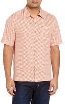Nat Nast Men's Ajax Classic Fit Silk Blend Camp Shirt