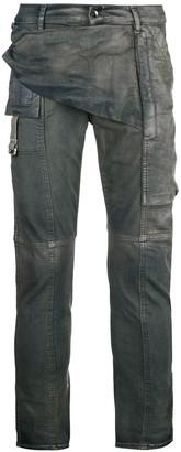 Rick Owens Flap Detail Skinny Jeans
