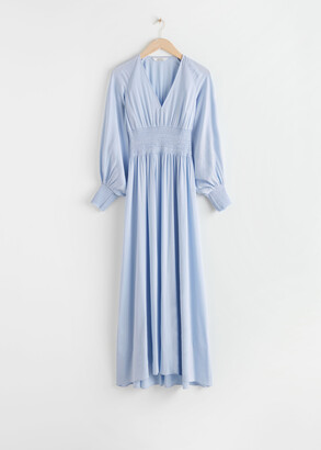 And other stories Smocked Waist Maxi Dress