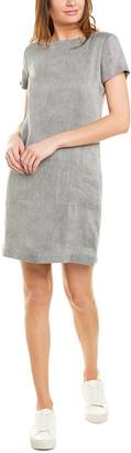 Theory Structured Linen-Blend Shift Dress