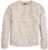 Aqua Girls' Textured Stripe Sweater - Sizes S-XL