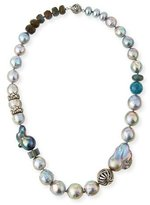 Stephen Dweck Pearl & Labradorite Beaded Necklace