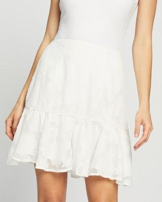 Atmos & Here Atmos&Here - Women's White Mini skirts - Esma Burnout Skirt - Size 8 at The Iconic