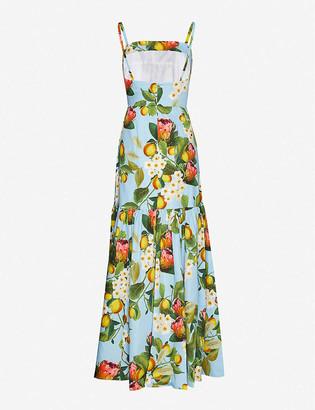 Borgo de Nor Citrus-print cotton maxi dress