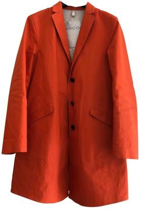 Hancocks Orange Cotton Trench coats