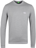 Boss Green Rime Light Grey Crew Neck Sweater