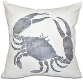"Crab, Animal Print Pillow, Gray, 16""x16"""