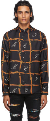 Amiri Black Silk Belt Shirt