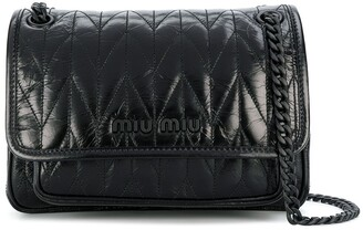 Miu Miu small chain-strap stitched shoulder bag