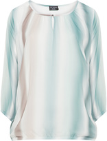 Via Appia Plus Size Watercolour chiffon tunic