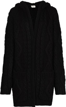 Saint Laurent Chunky Cable-Knit Cardigan