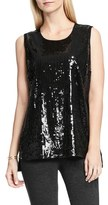 Vince Camuto Sleeveless Sequin Top