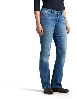 Lee Women's No Gap Waistband Curvy Fit Bootcut Jeans