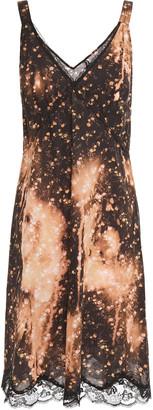 R 13 Lace-trimmed Floral-print Cotton Dress