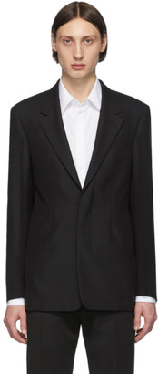 Maison Margiela Black Wool Single-Breasted Blazer