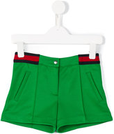Gucci Kids - contrast stripe shorts - kids - Cotton/Polyester - 10 yrs