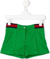Gucci Kids - contrast stripe shorts - kids - Cotton/Polyester - 6 yrs