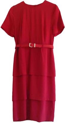 Pierre Cardin Red Viscose Dresses
