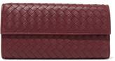 Bottega Veneta Intrecciato Leather Wallet - Burgundy
