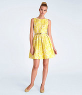 Tahari by Arthur S. Levine Tahari by ASL Metallic Jacquard Fit-and-Flare Dress