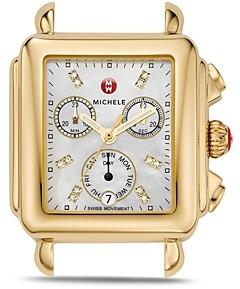Michele Deco Day Diamond Watch Head, 33 x 35mm