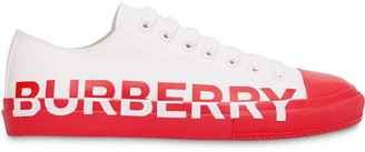 Burberry Logo Two-Tone Low-Top Sneakers