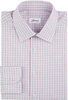 Brioni Men's Checked Dress Shirt-RED