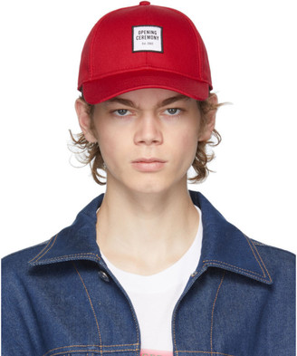 Opening Ceremony Red Embroidered Logo Cap