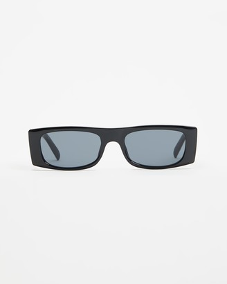 Le Specs Black Rectangle - Sustainable Recovery - Size One Size at The Iconic