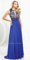 Tony Bowls Le Gala Multicolor Illusion Beaded Prom Gown