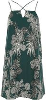 River Island Womens Green paisley print cross strap slip dress