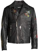 Diesel Juner Embellished Leather Biker Jacket