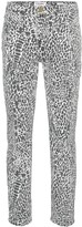 Frame Le High animal print straight leg jeans